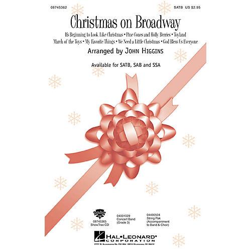 Hal Leonard Christmas On Broadway (Medley) SATB arranged by John Higgins thumbnail