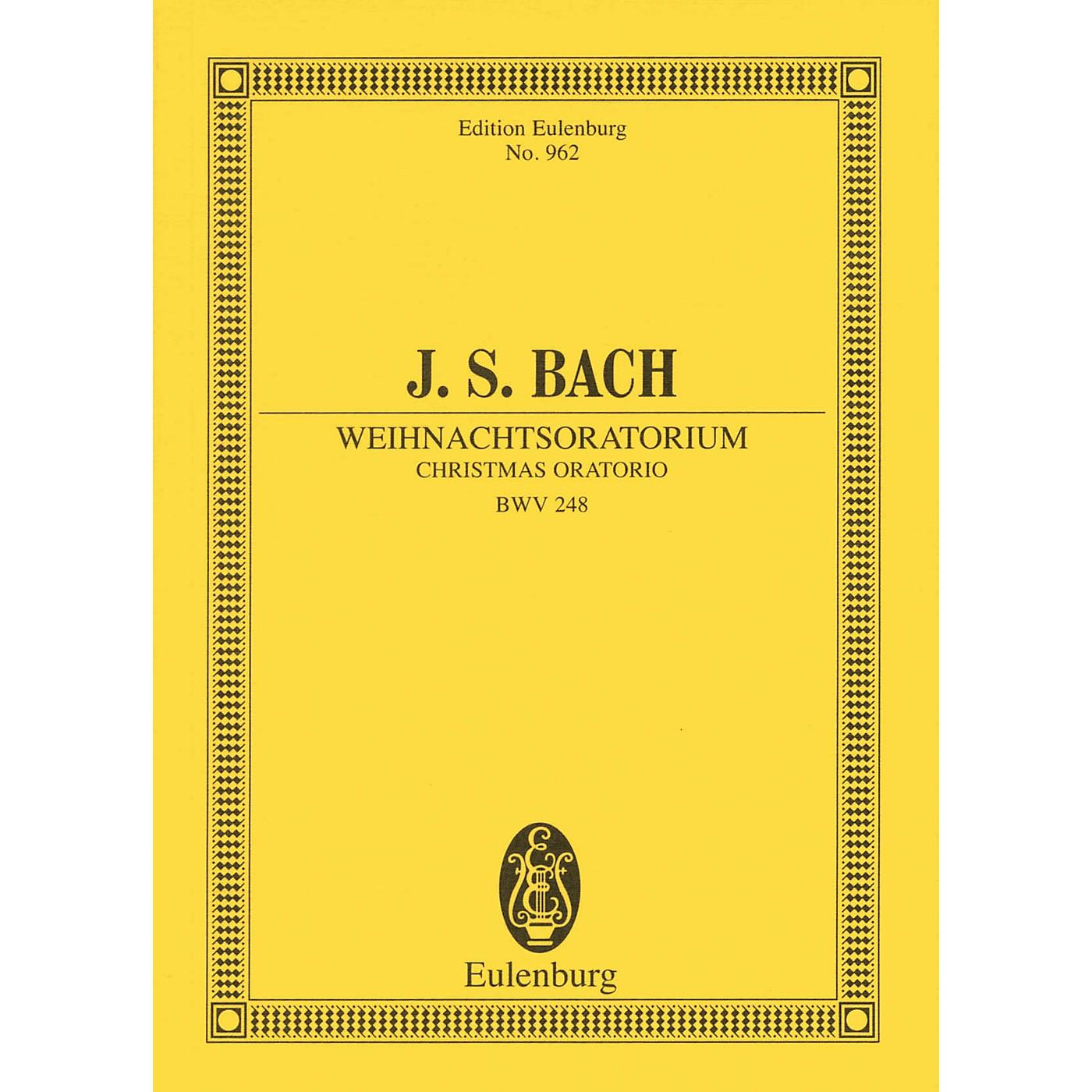 Eulenburg Christmas Oratorio, BWV 248 Study Score Composed by Johann Sebastian Bach Arranged by Arnold Schering thumbnail