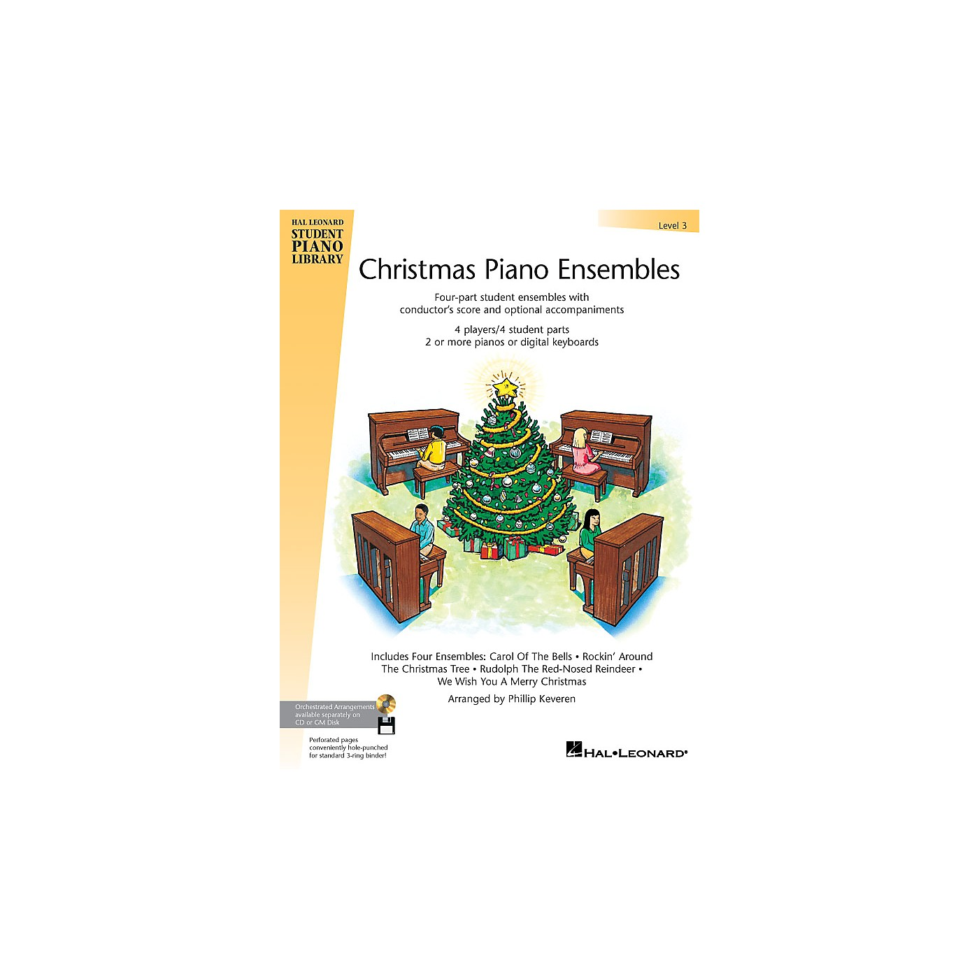Hal Leonard Christmas Piano Ensembles - Level 3 Book Piano Library Series (Level Late Elem) thumbnail