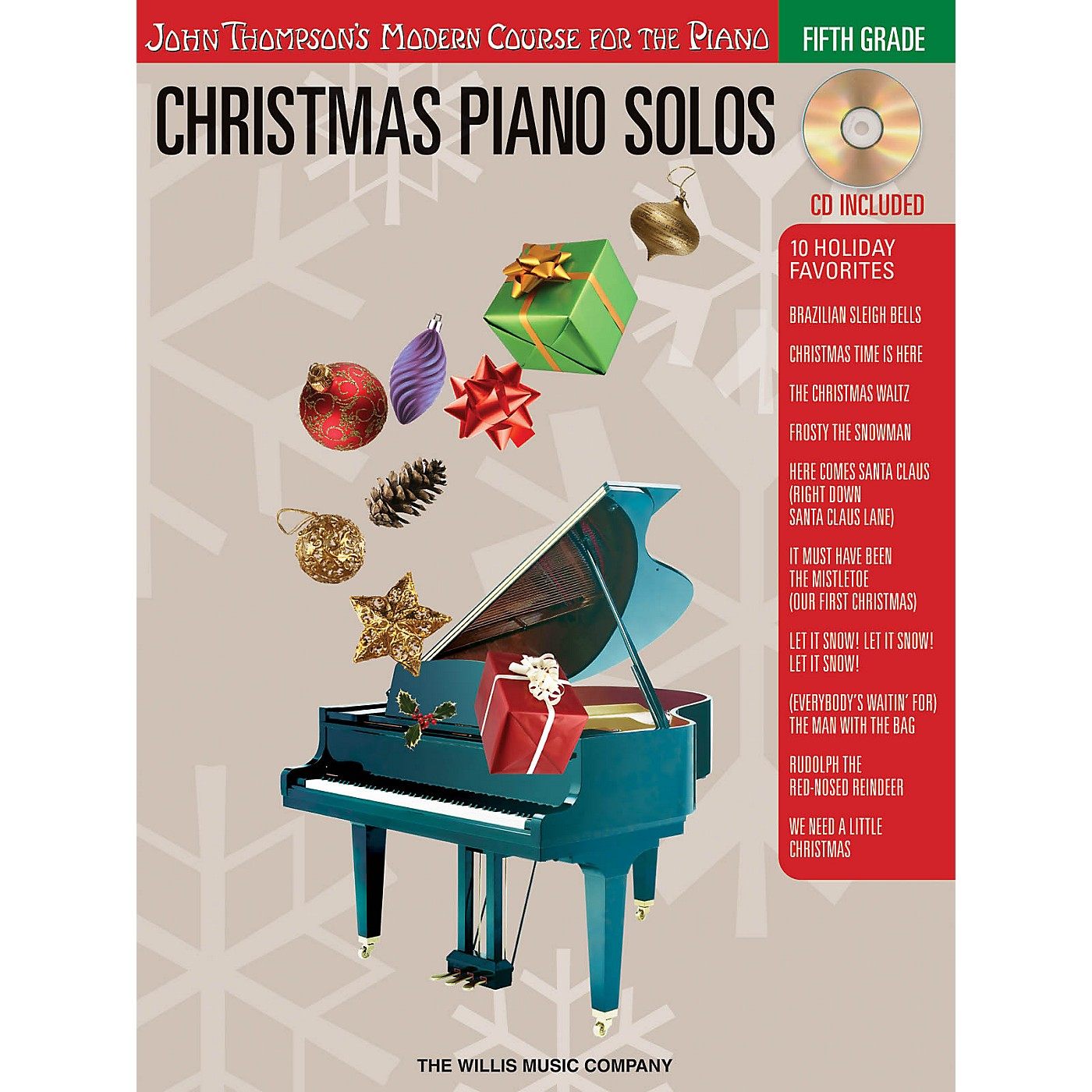 Willis Music Christmas Piano Solos - Fifth Grade (Book/CD Pack) Willis Series Softcover with CD Composed by Various thumbnail