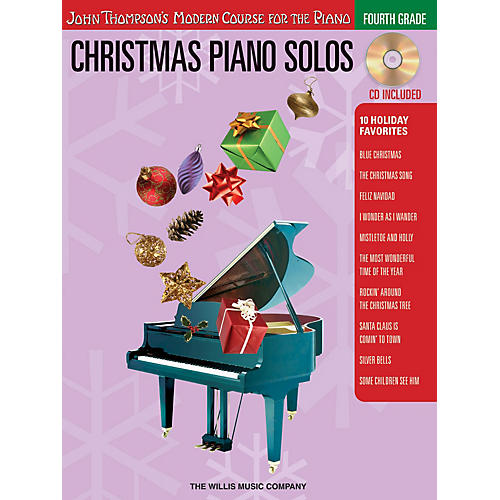 Willis Music Christmas Piano Solos - Fourth Grade (Book/CD Pack) Willis Series Softcover with CD Composed by Various thumbnail