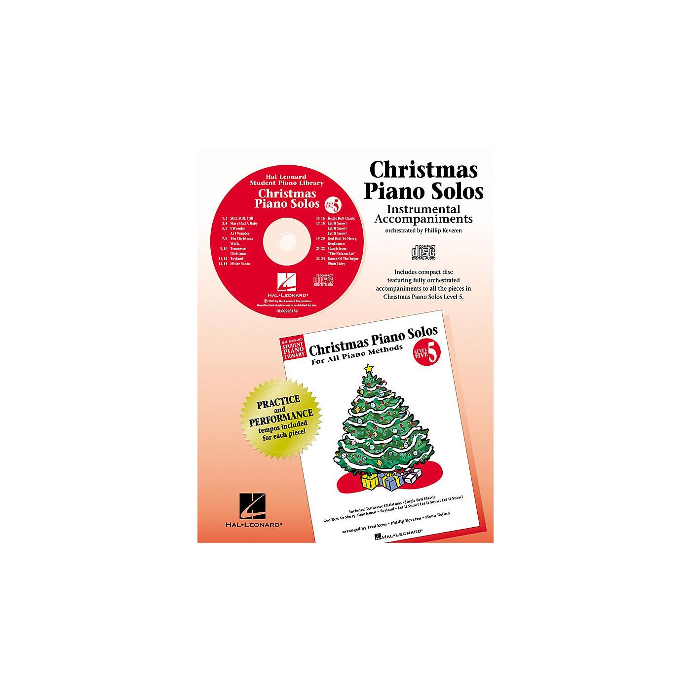 Hal Leonard Christmas Piano Solos - Level 5 - CD Piano Library Series CD thumbnail