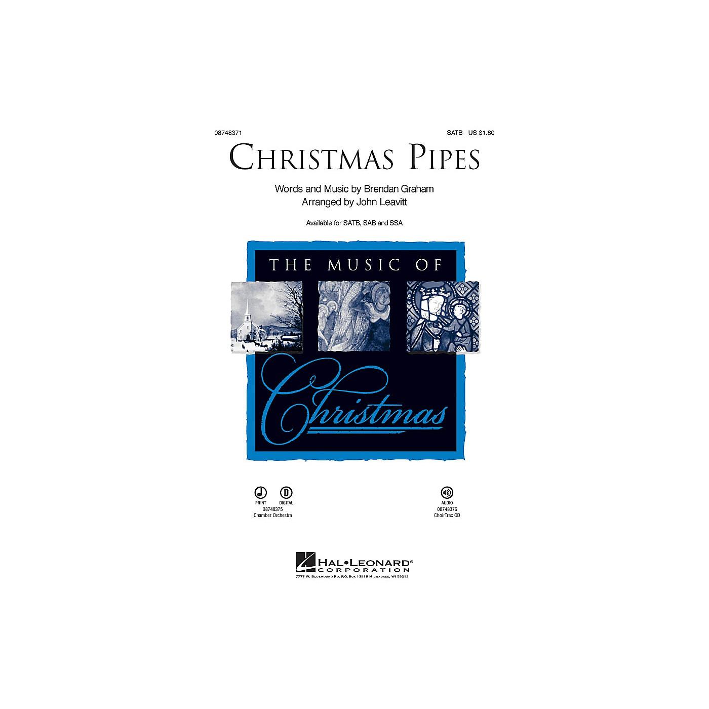 Hal Leonard Christmas Pipes IPAKO Arranged by John Leavitt thumbnail
