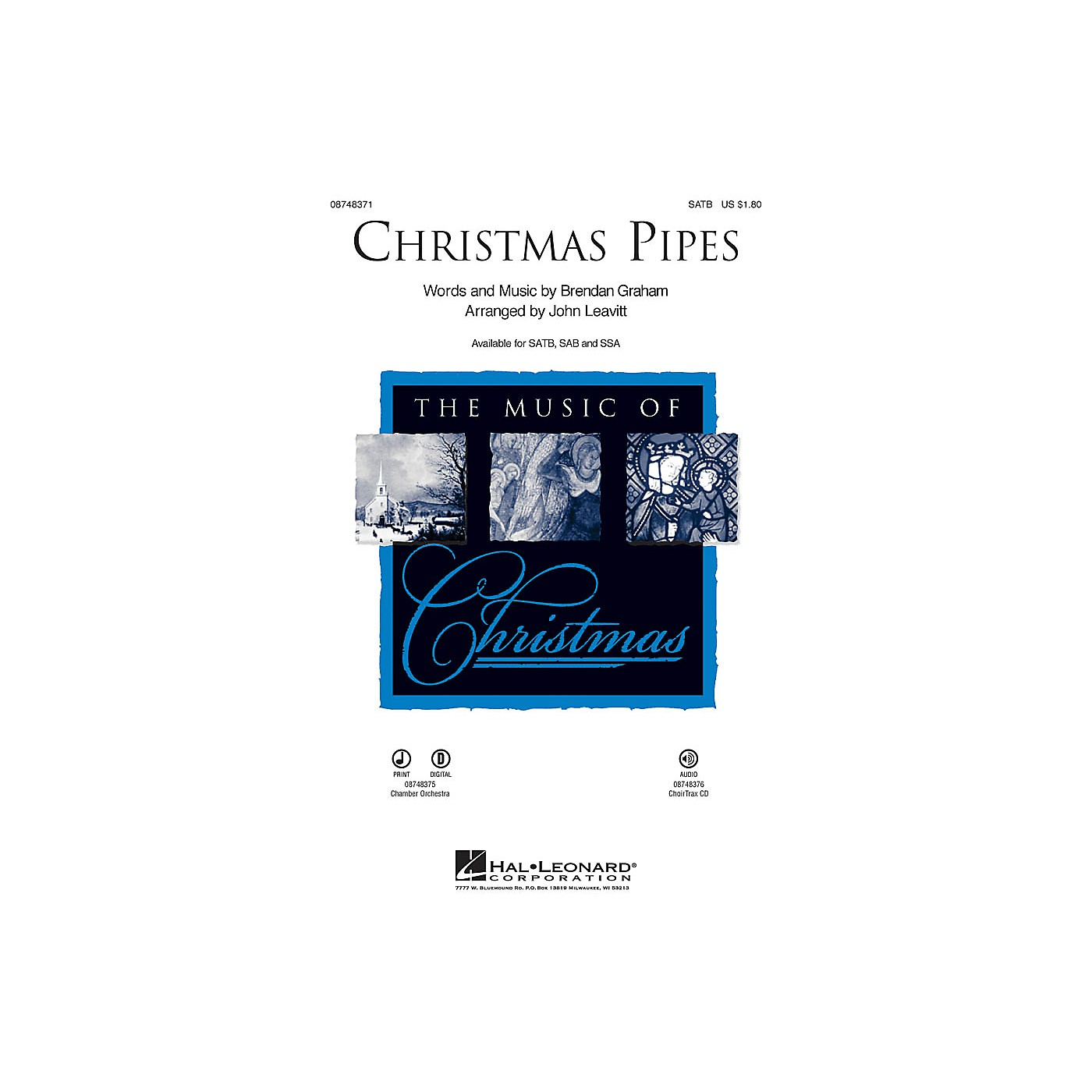 Hal Leonard Christmas Pipes SATB arranged by John Leavitt thumbnail