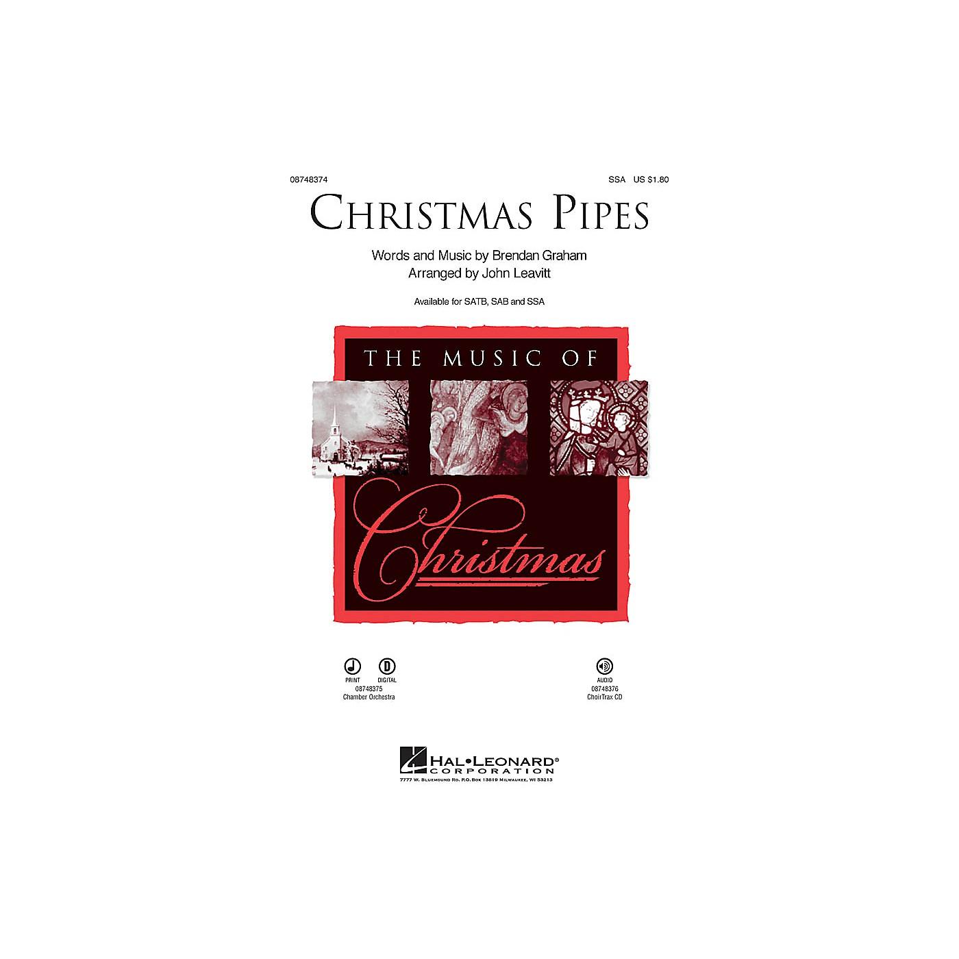 Hal Leonard Christmas Pipes SSA arranged by John Leavitt thumbnail