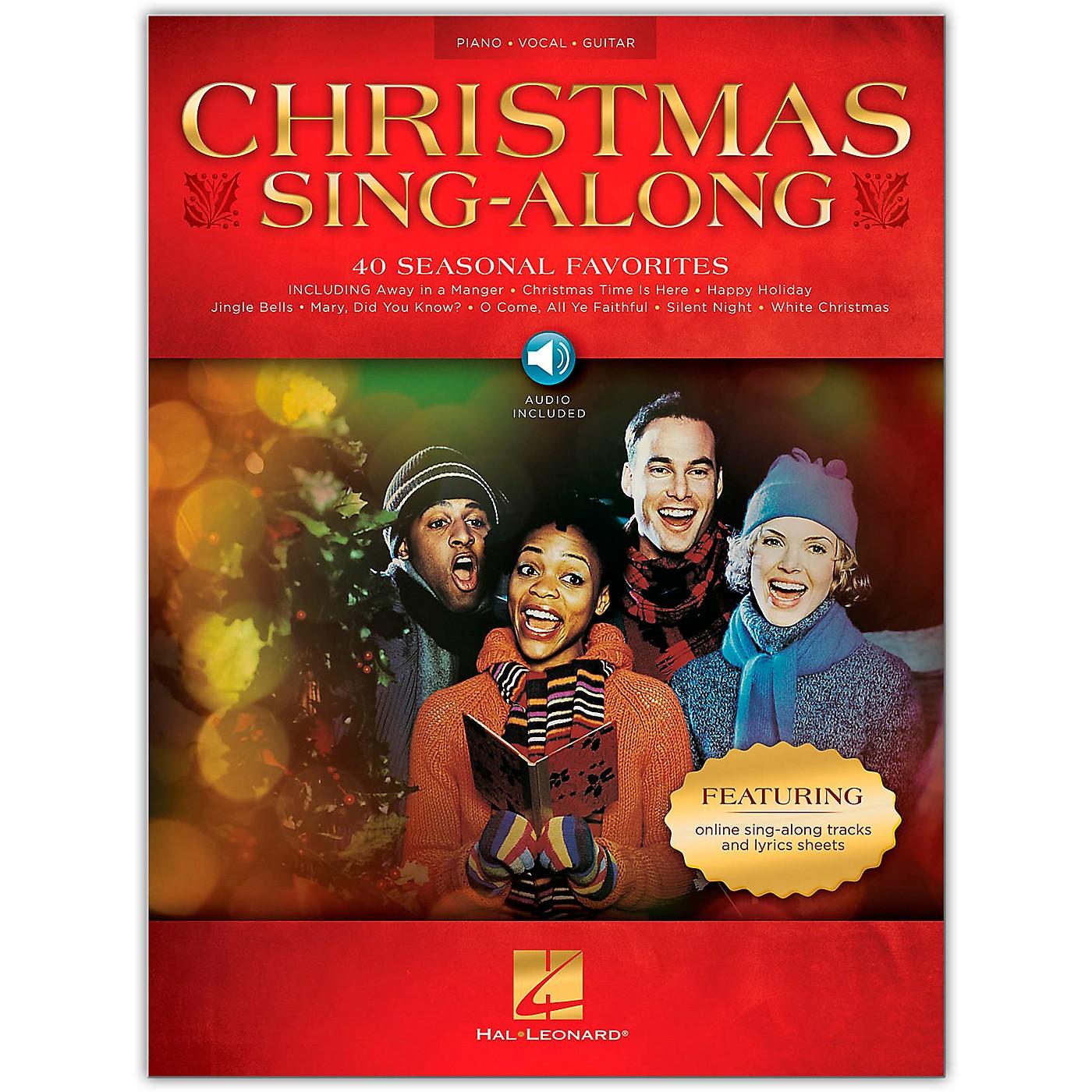 Hal Leonard Christmas Sing-Along Piano/Vocal/Guitar Book/Audio Online thumbnail