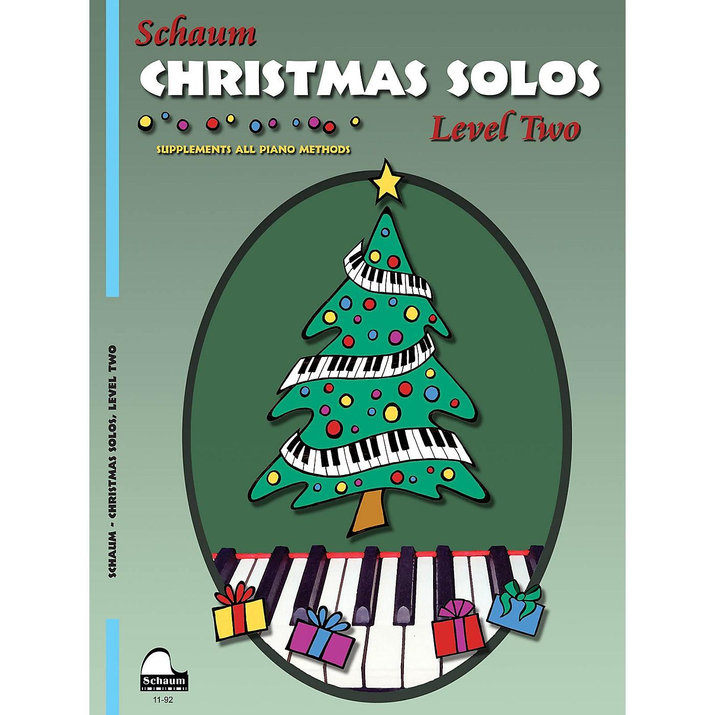 SCHAUM Christmas Solos (Level 2 Upper Elem Level) Educational Piano Book thumbnail
