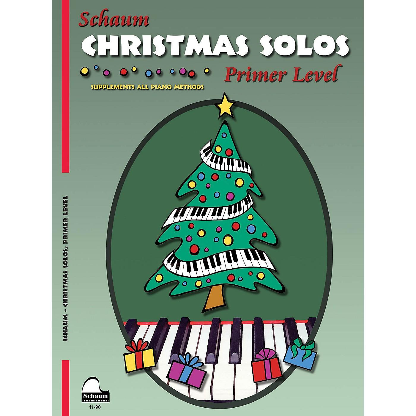 SCHAUM Christmas Solos (Primer Level Early Elem Level) Educational Piano Book thumbnail