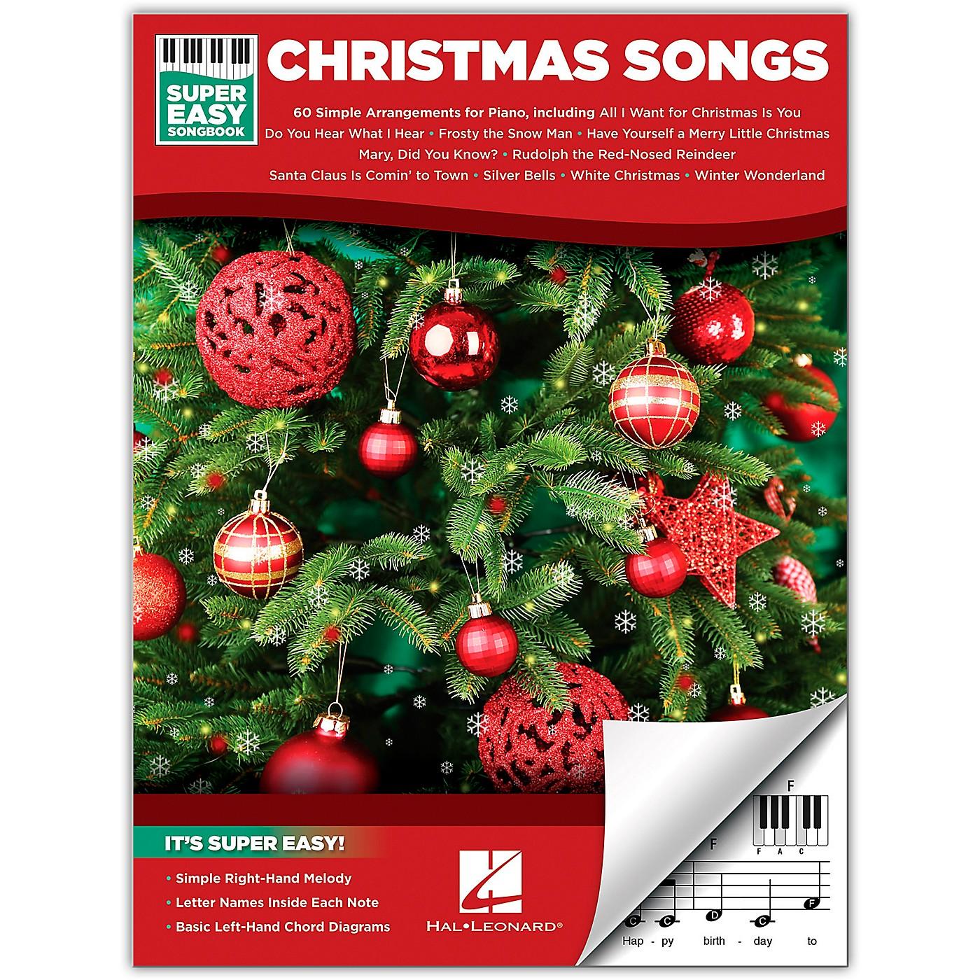 Hal Leonard Christmas Songs - Super Easy Songbook thumbnail