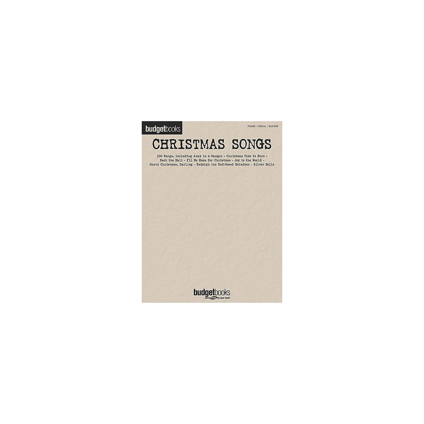 Hal Leonard Christmas Songs Budget Piano, Vocal, Guitar Songbook thumbnail