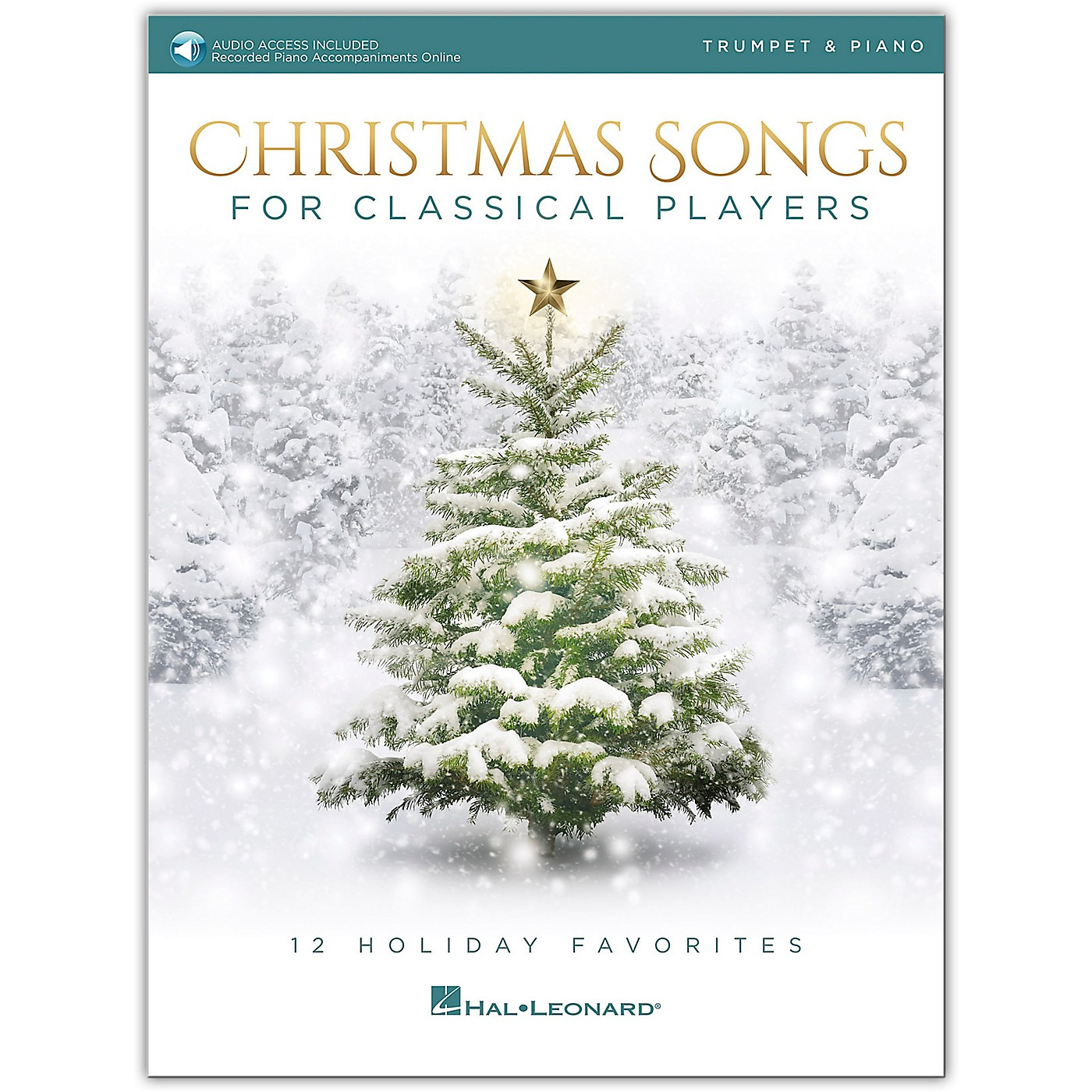 Hal Leonard Christmas Songs For Classical Players - Trumpet & Piano Book with Online Audio of Piano Accompaniments thumbnail