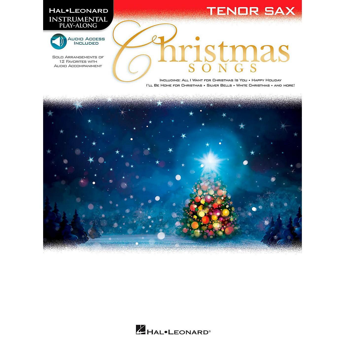Hal Leonard Christmas Songs For Tenor Sax - Instrumental Play-Along (Book/Audio On-Line) thumbnail