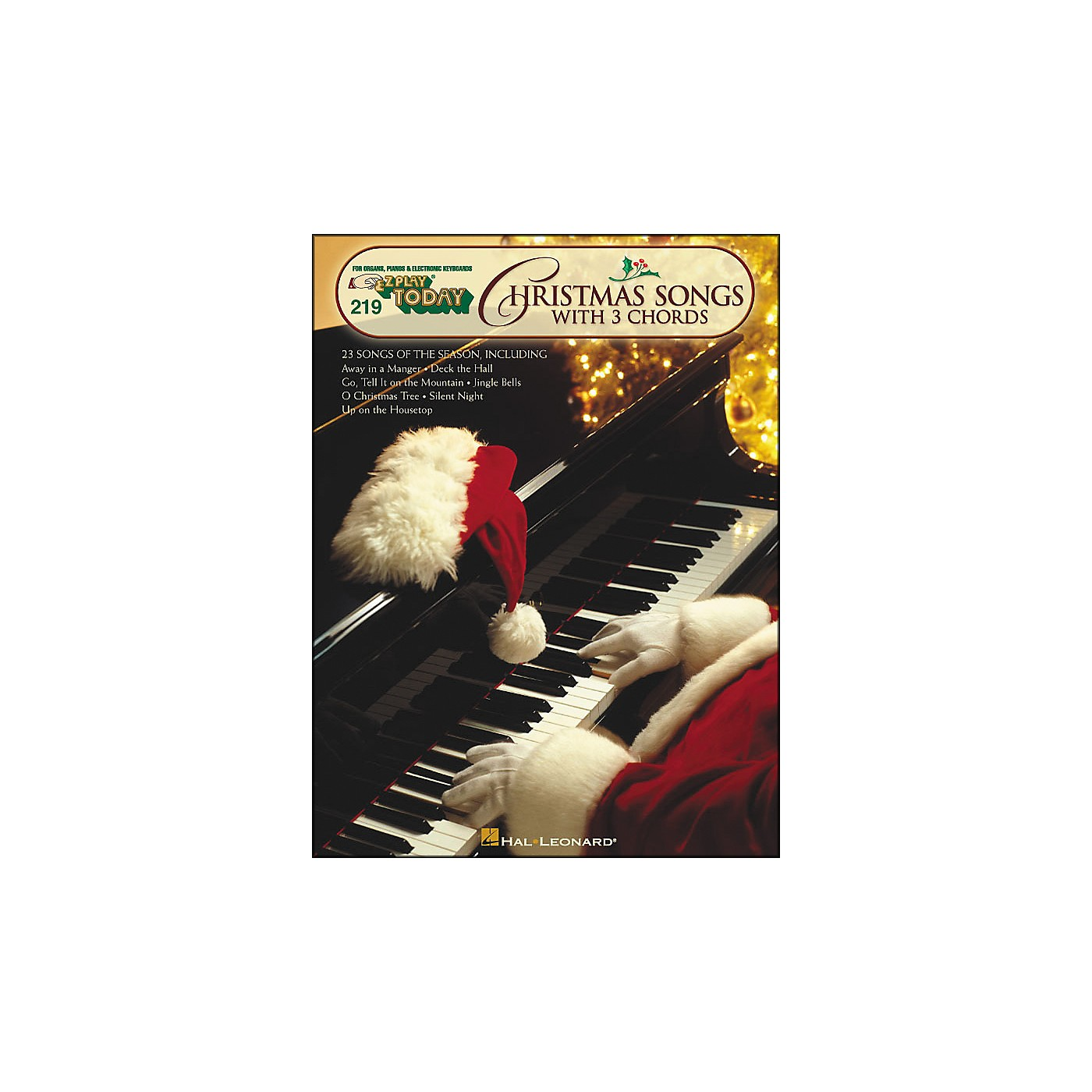 Hal Leonard Christmas Songs with 3 Chords E-Z Play 219 thumbnail