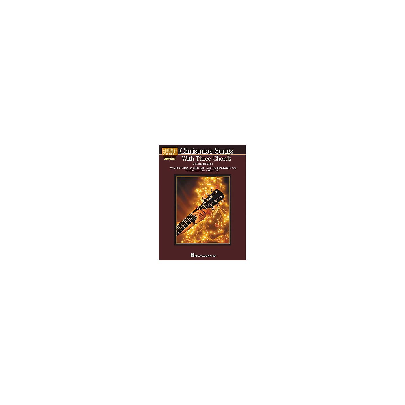 Hal Leonard Christmas Songs with Three Chords Strum It Guitar Book thumbnail