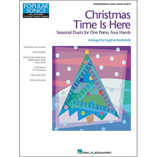 Hal Leonard Christmas Time Is Here - Seasonal Duets For One Piano Four Hands Intermediate Level by Eugenie Rocherolle thumbnail