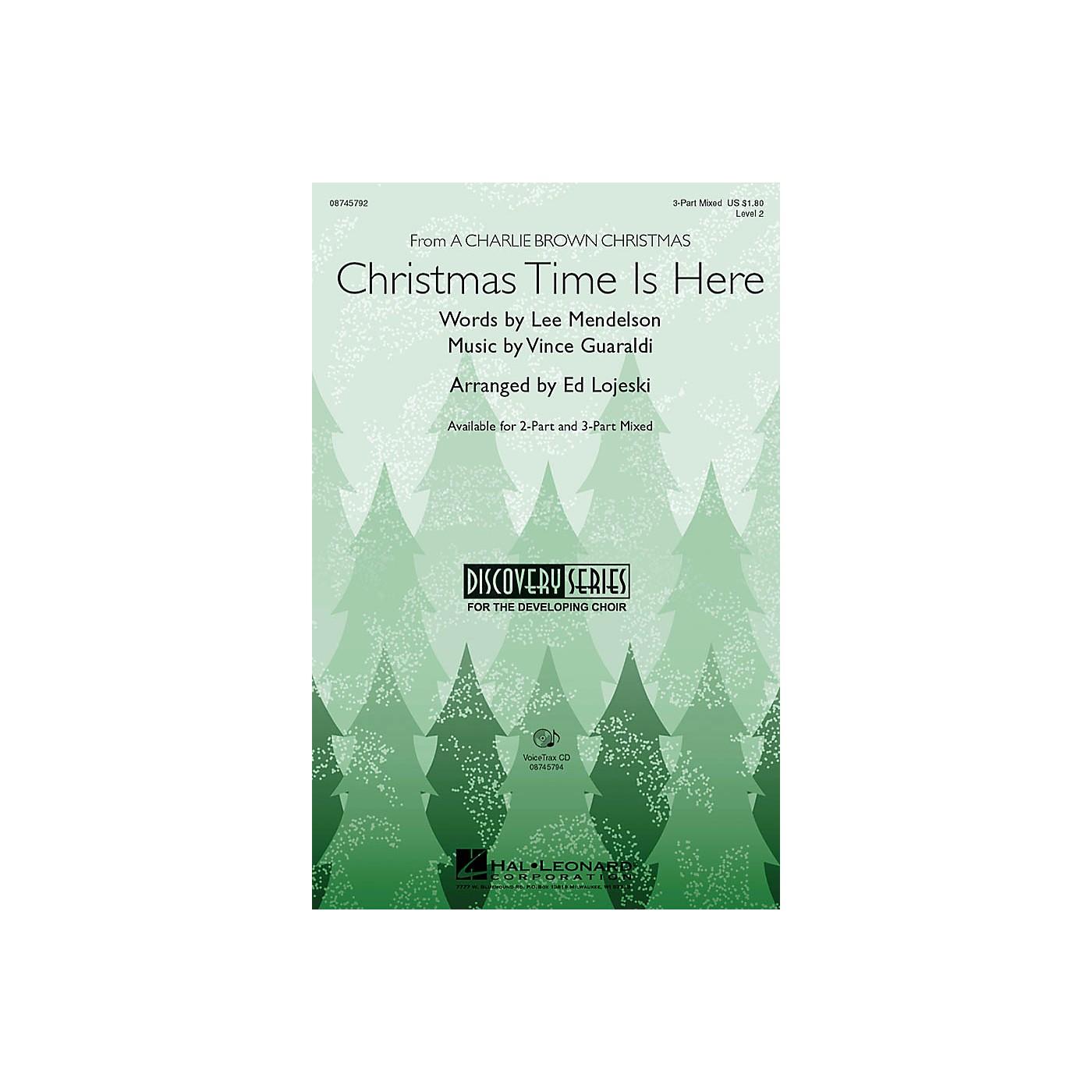 Hal Leonard Christmas Time Is Here 2-Part Arranged by Ed Lojeski thumbnail
