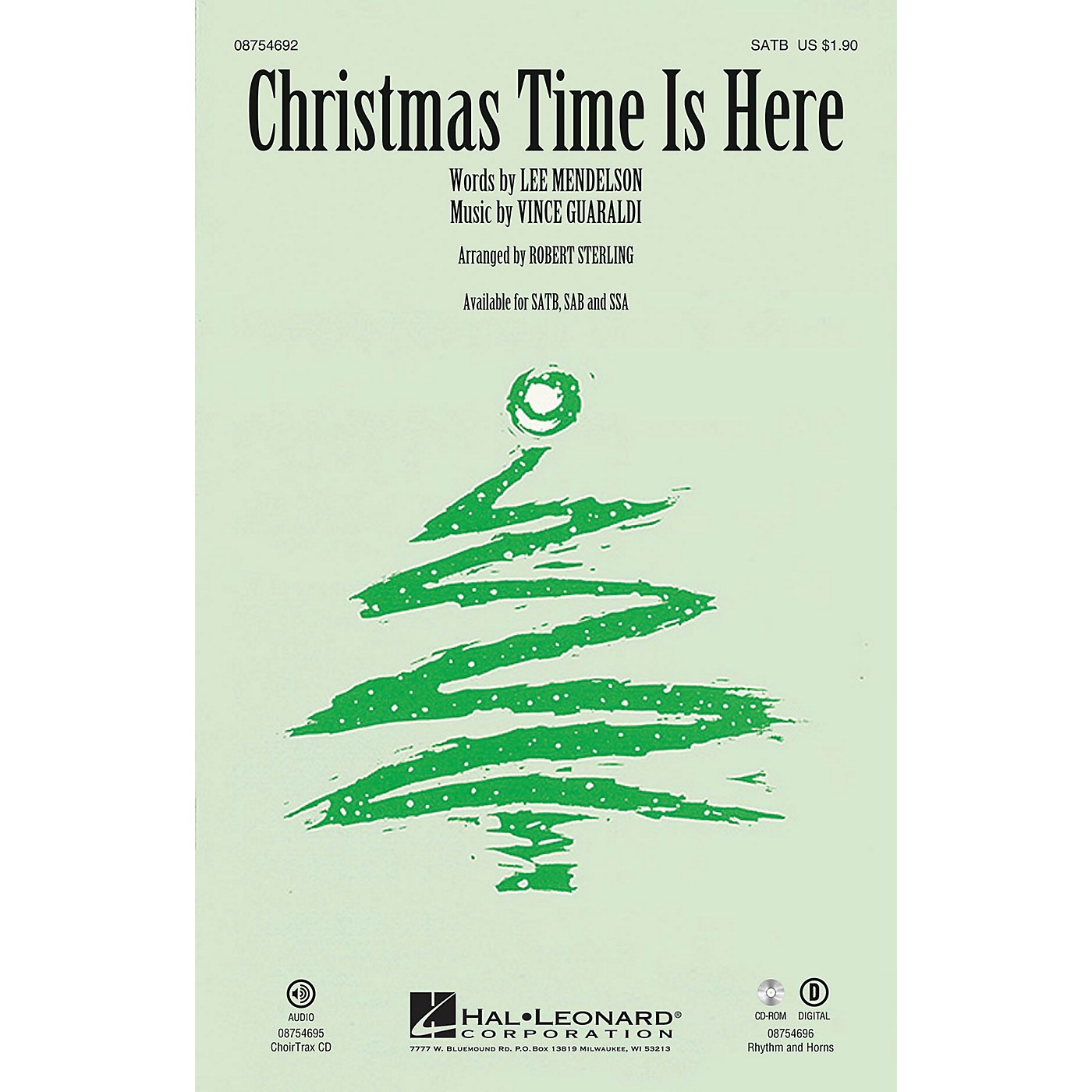 Hal Leonard Christmas Time Is Here CHOIRTRAX CD Arranged by Robert Sterling thumbnail