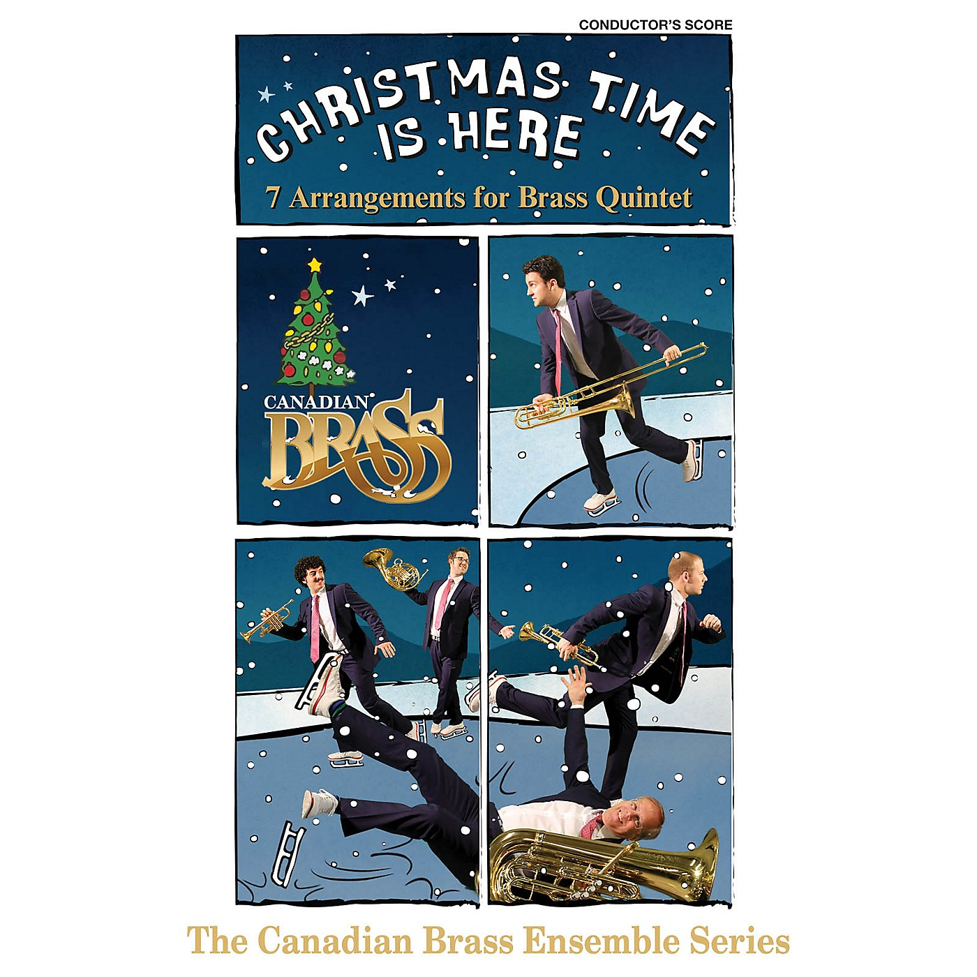 Canadian Brass Christmas Time Is Here (Conductor's Score) Brass Ensemble Series by Various Arranged by Various thumbnail