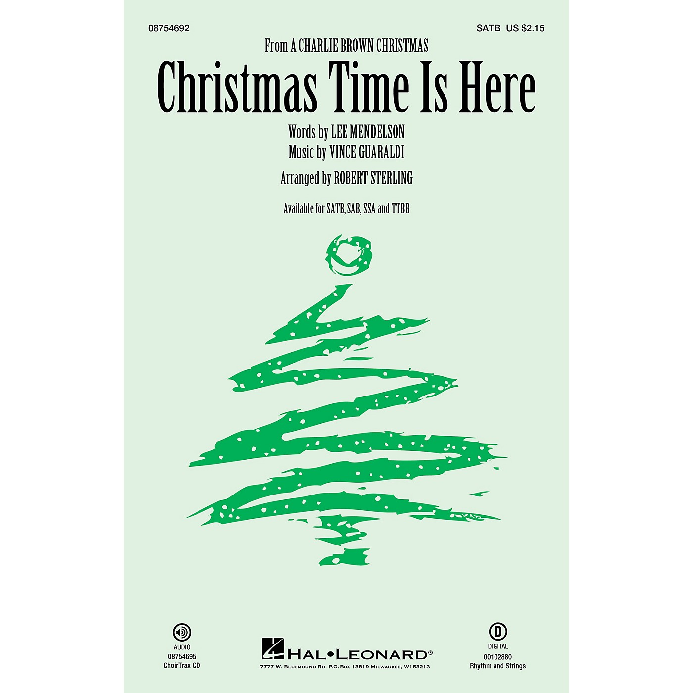 Hal Leonard Christmas Time Is Here RHYTHM/STRINGS Arranged by Robert Sterling thumbnail