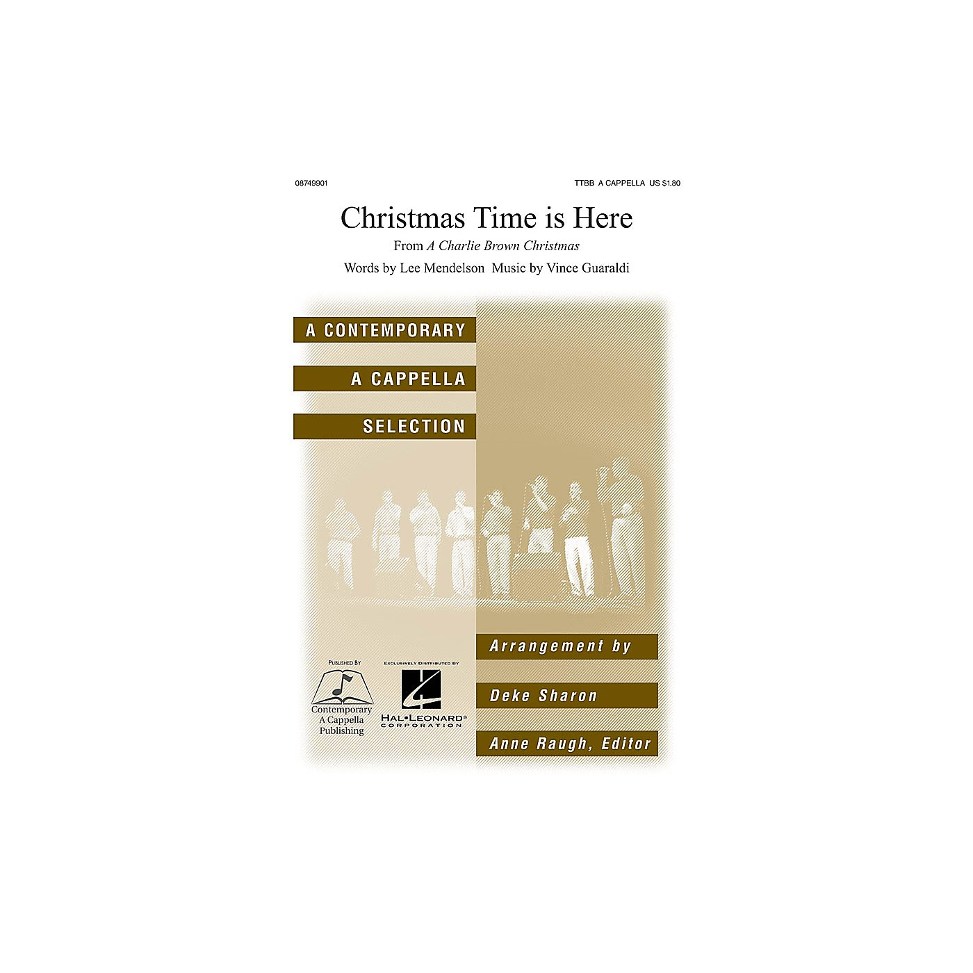 Contemporary A Cappella Publishing Christmas Time Is Here TTBB A Cappella arranged by Deke Sharon thumbnail
