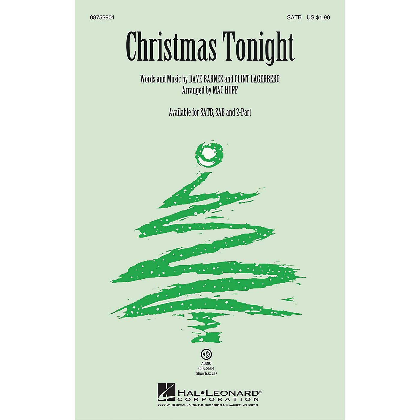 Hal Leonard Christmas Tonight SAB by Dave Barnes Arranged by Mac Huff thumbnail