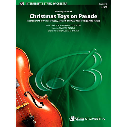 Alfred Christmas Toys on Parade String Orchestra Grade 2.5 Set thumbnail