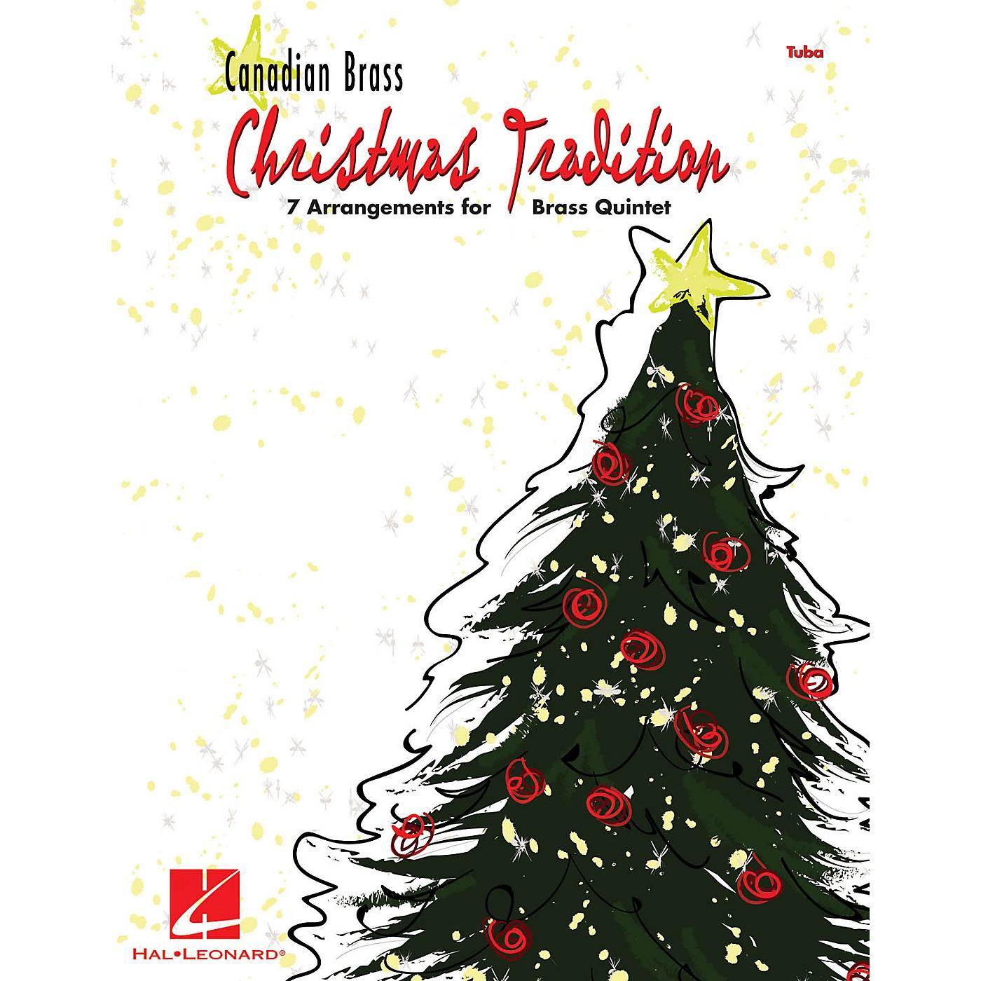 Hal Leonard Christmas Tradition (7 Arrangements for Brass Quintet - Tuba (B.C.)) Brass Ensemble Series by Various thumbnail