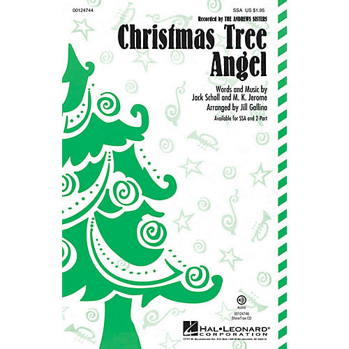 Hal Leonard Christmas Tree Angel SSA by Andrews Sisters arranged by Jill Gallina thumbnail