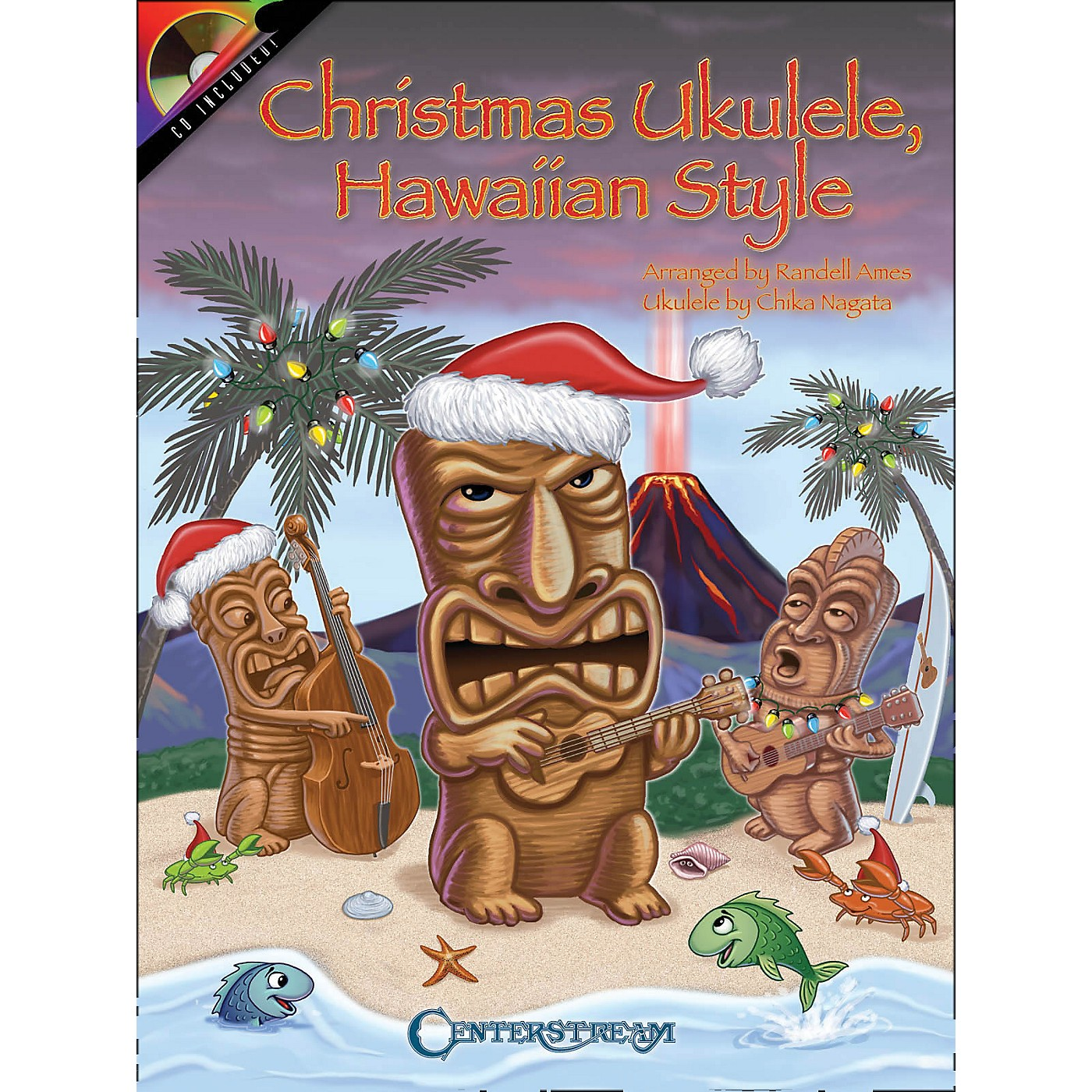 Centerstream Publishing Christmas Ukulele Hawaiian Style Book/CD thumbnail