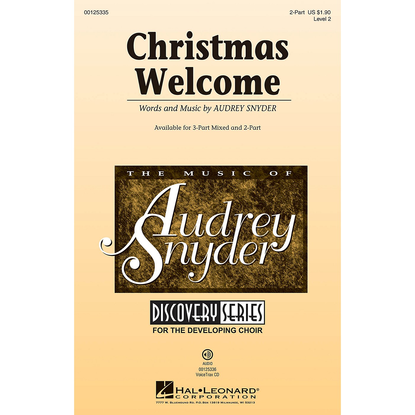 Hal Leonard Christmas Welcome (Discovery Level 2) 2-Part composed by Audrey Snyder thumbnail