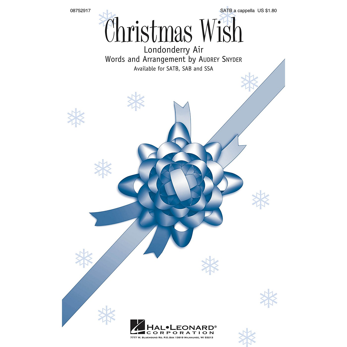 Hal Leonard Christmas Wish SATB composed by Audrey Snyder thumbnail