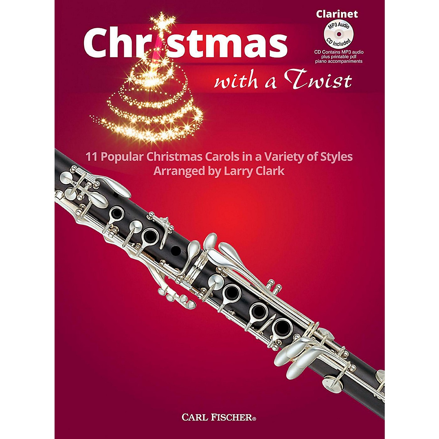 Carl Fischer Christmas With A Twist Book with CD - Clarinet thumbnail