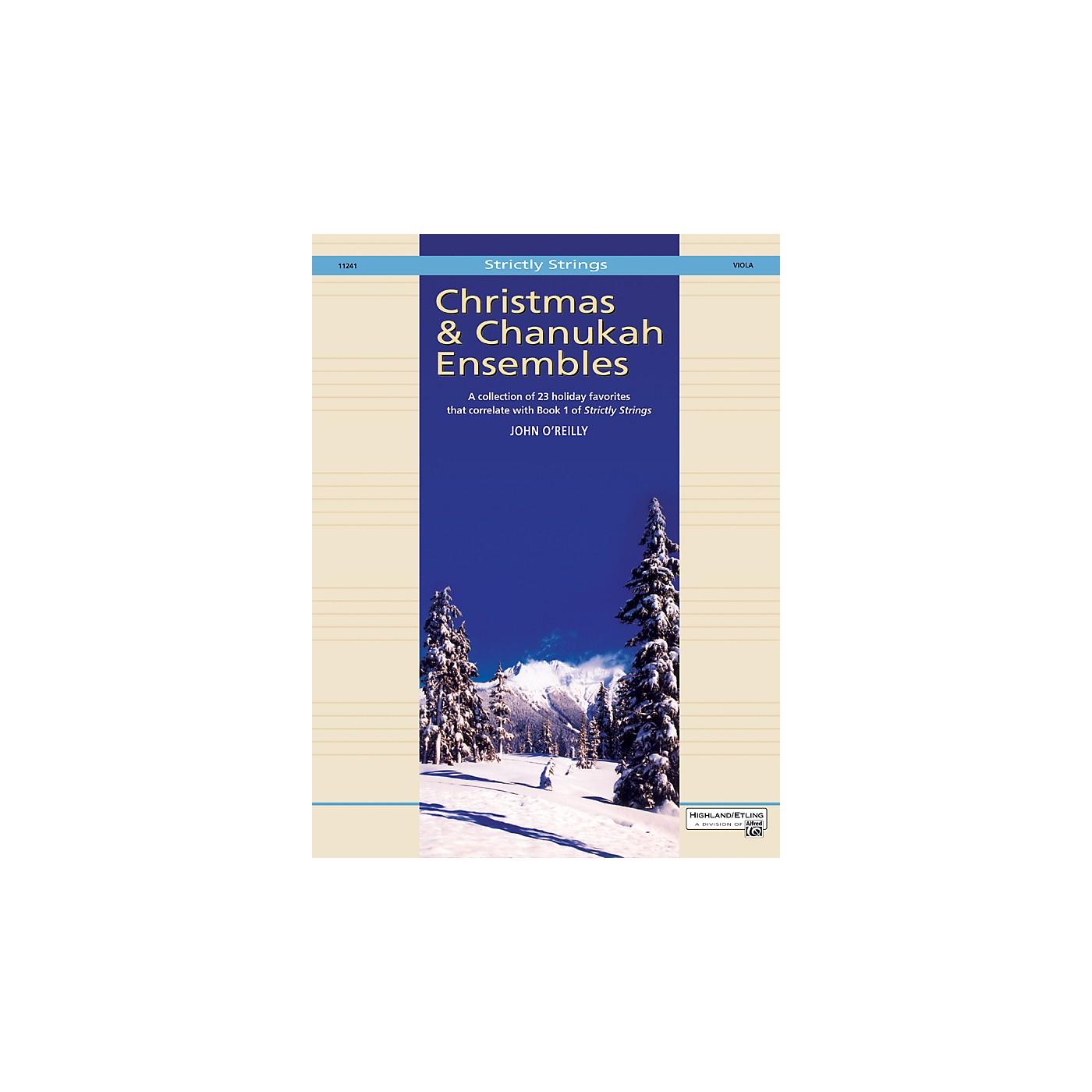 Alfred Christmas and Chanukah Ensembles Viola thumbnail