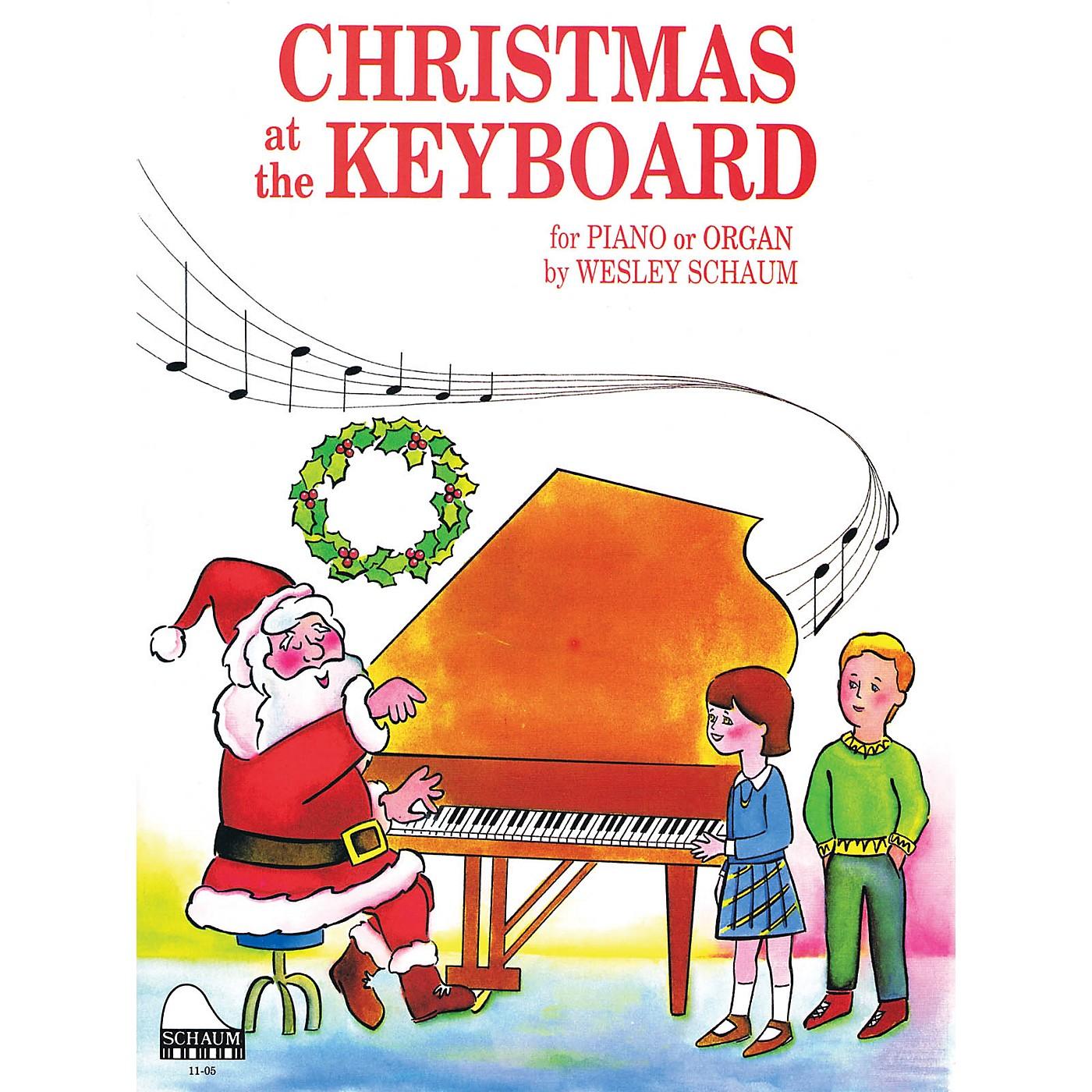 SCHAUM Christmas at the Keyboard (Level 1 Elem Level) Educational Piano Book thumbnail