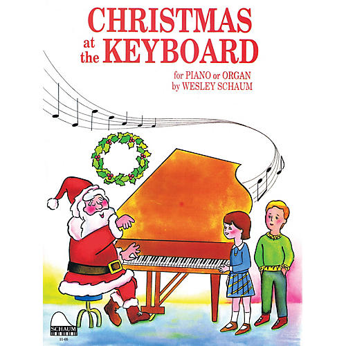 SCHAUM Christmas at the Keyboard (Level 1 Elem Level) Educational Piano Book thumbnail