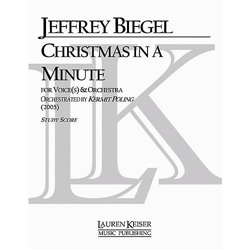 Lauren Keiser Music Publishing Christmas in a Minute (Soloist and Orchestra) LKM Music Series Composed by Jeffrey Biegel thumbnail