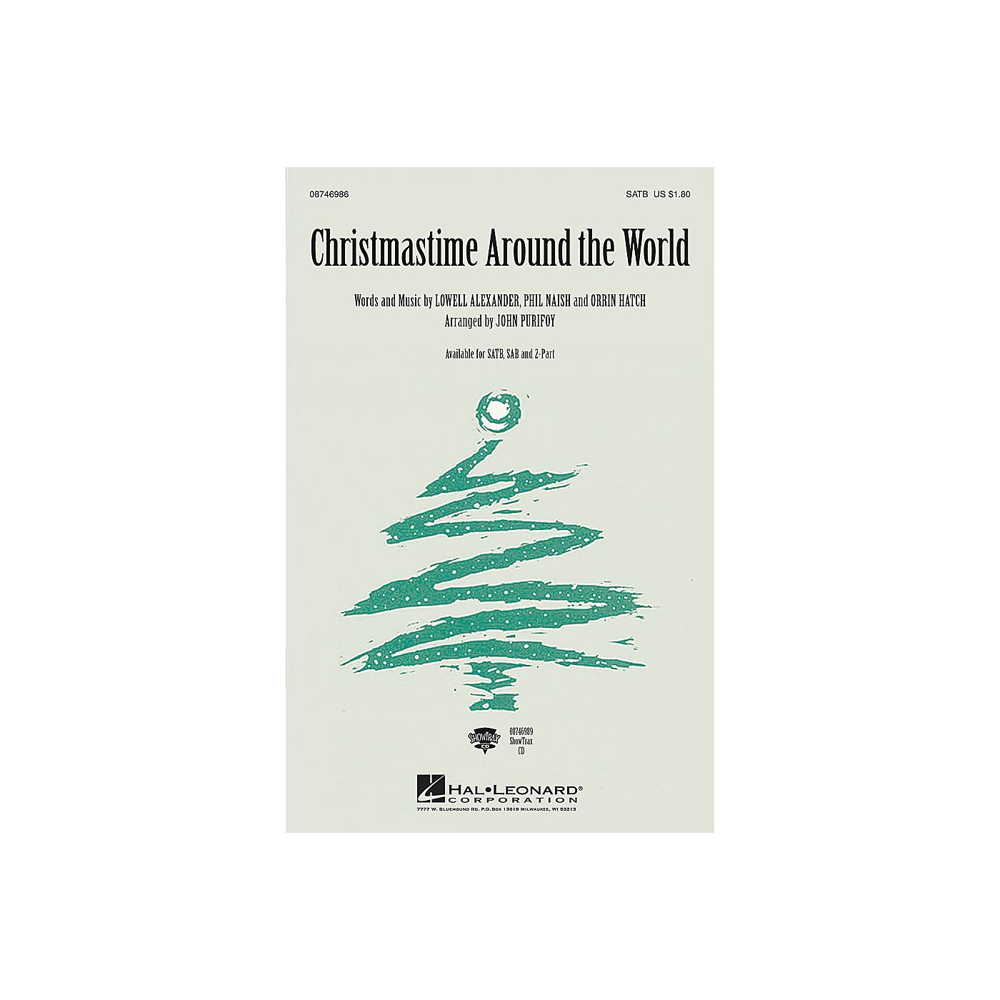 Hal Leonard Christmastime Around the World SATB arranged by John Purifoy thumbnail