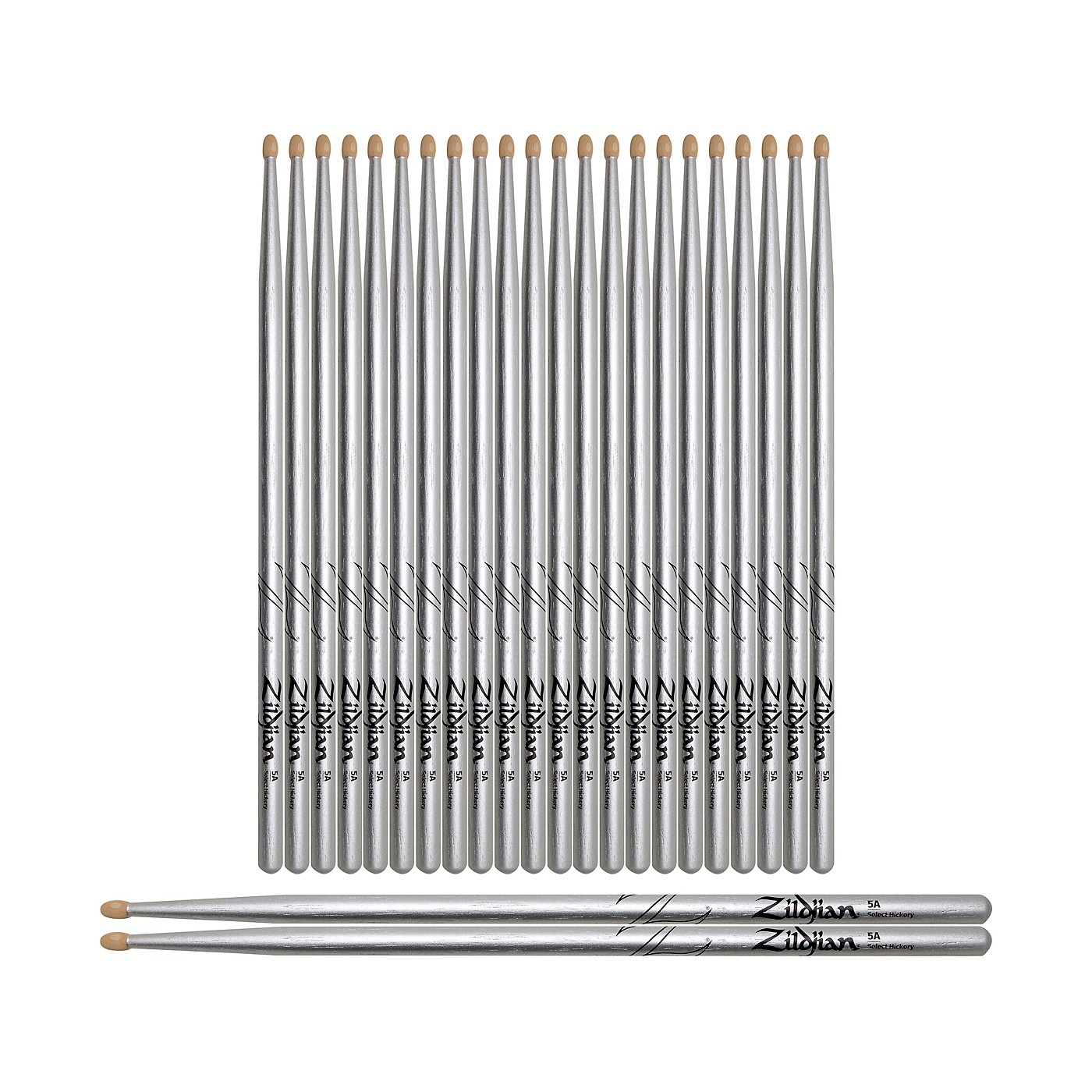 Zildjian Chroma Silver Drum Sticks 12-Pack thumbnail