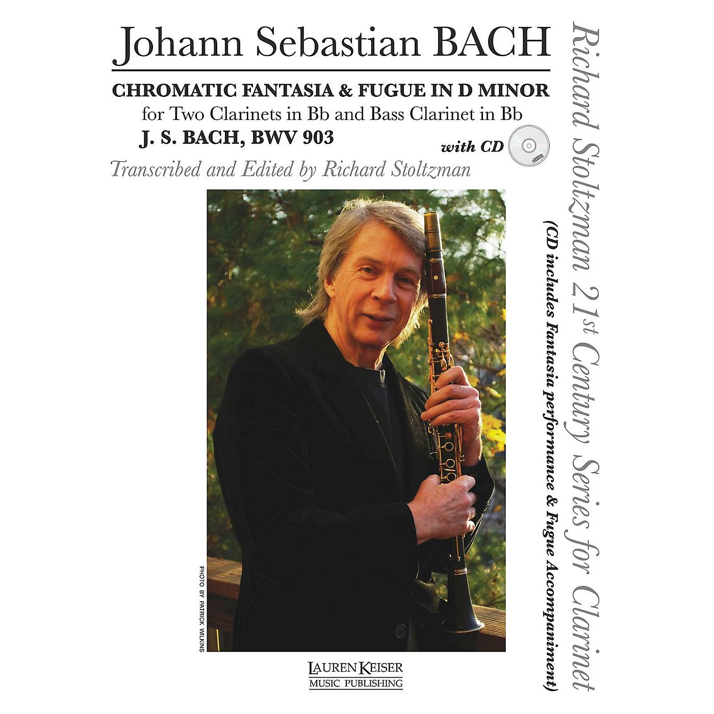 Lauren Keiser Music Publishing Chromatic Fantasia & Fugue in D minor, BWV 903 LKM Music Composed by Bach Arranged by Richard Stoltzman thumbnail