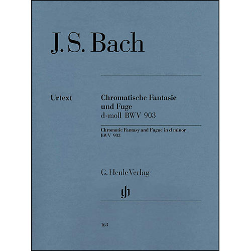 G. Henle Verlag Chromatic Fantasy and Fugue D minor BWV 903 and 903a By Bach-thumbnail