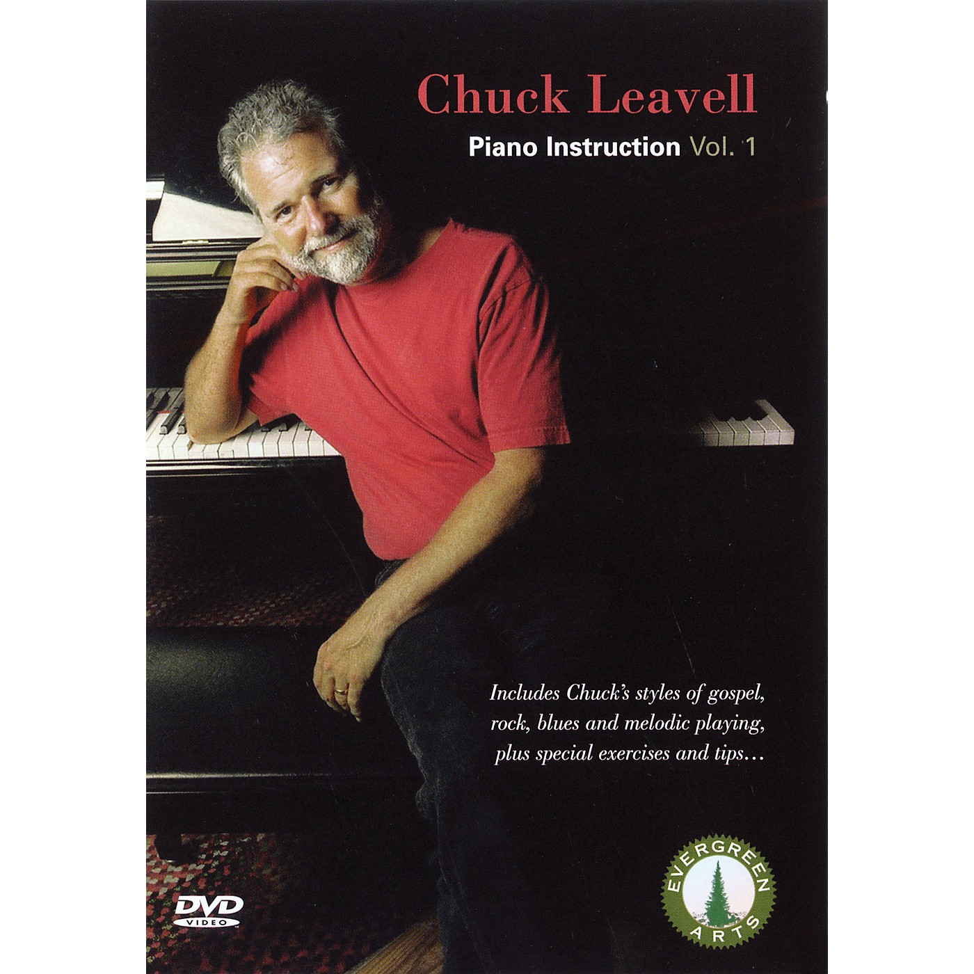 Evergreen Arts Chuck Leavell - Piano Instruction, Vol. 1 DVD Series DVD Performed by Chuck Leavell thumbnail