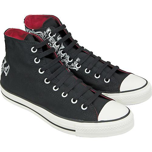 Converse Chuck Taylor All Star Crest Print Hi-Top Sneakers (Black) thumbnail