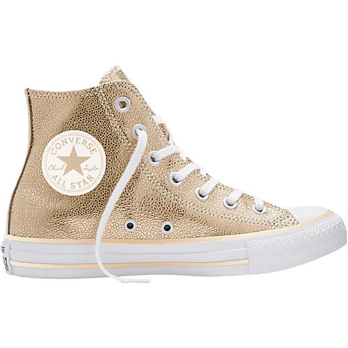 8b7721815bd0 Converse Chuck Taylor All Star Stingray Metallic Hi Top Light Gold (Women s)  thumbnail