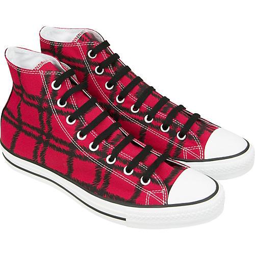 Converse Chuck Taylor Scribble Plaid Hi-Top Sneakers (Red) thumbnail