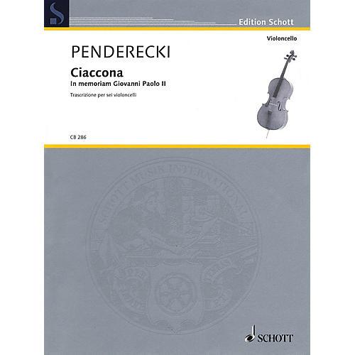 Schott Ciaccona - in Memoriam Giovanni Paolo II String Ensemble by Krzysztof Penderecki thumbnail