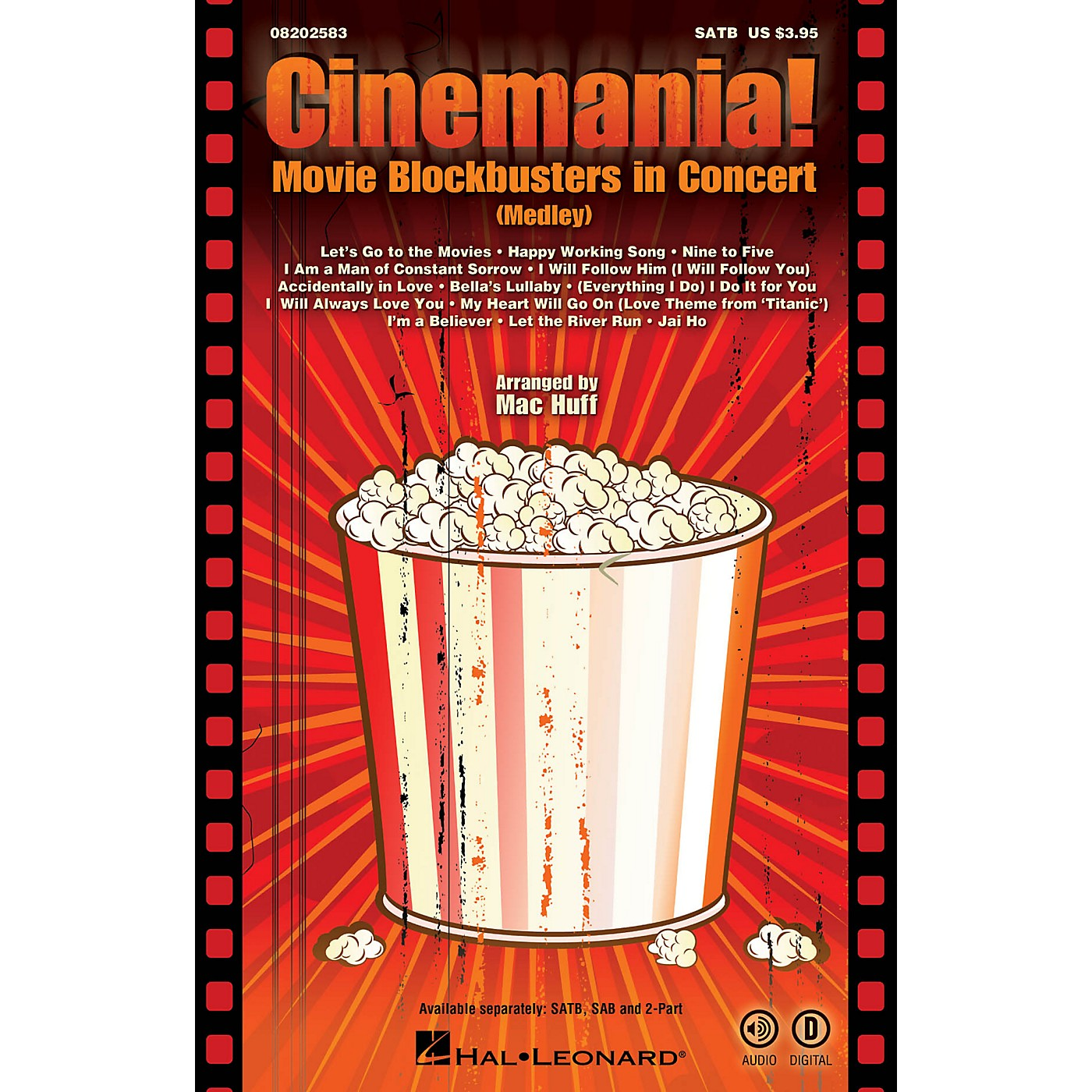 Hal Leonard Cinemania! Movie Blockbusters in Concert (Medley) 2-Part Arranged by Mac Huff thumbnail