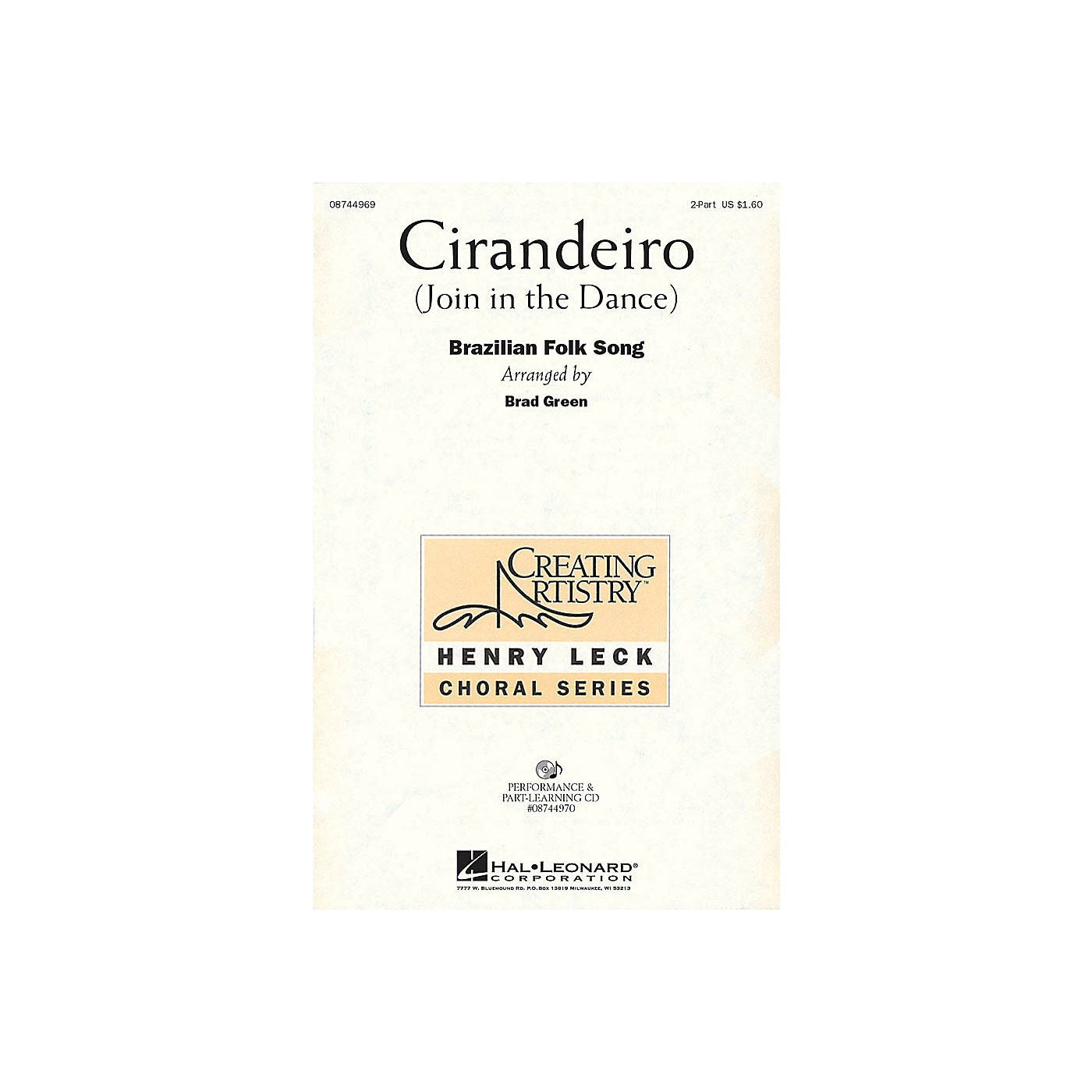 Hal Leonard Cirandeiro (Join in the Dance) 2-Part arranged by Henry Leck thumbnail