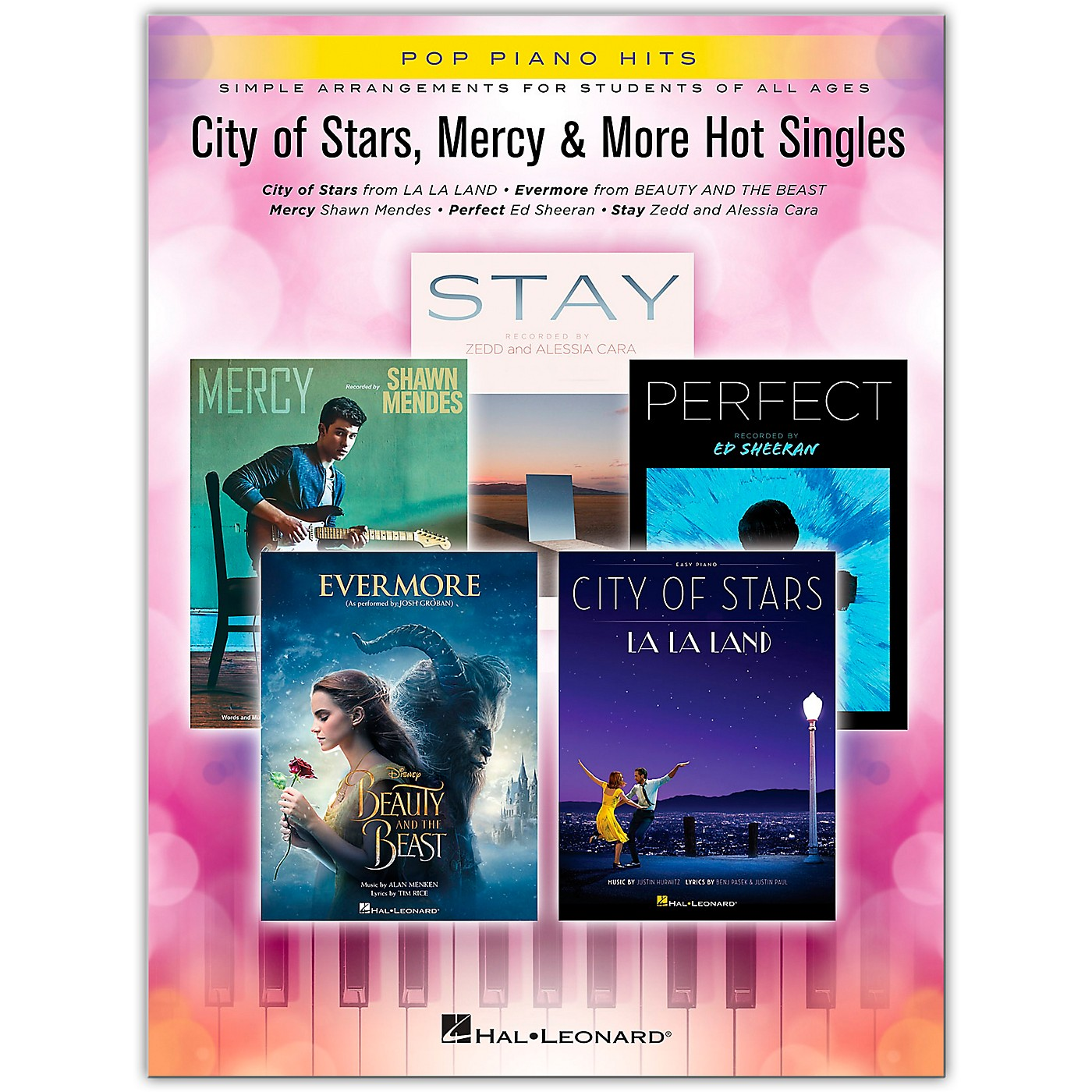 Hal Leonard City of Stars, Mercy & More Hot Singles Pop Piano Hits Series Softcover Performed by Various thumbnail