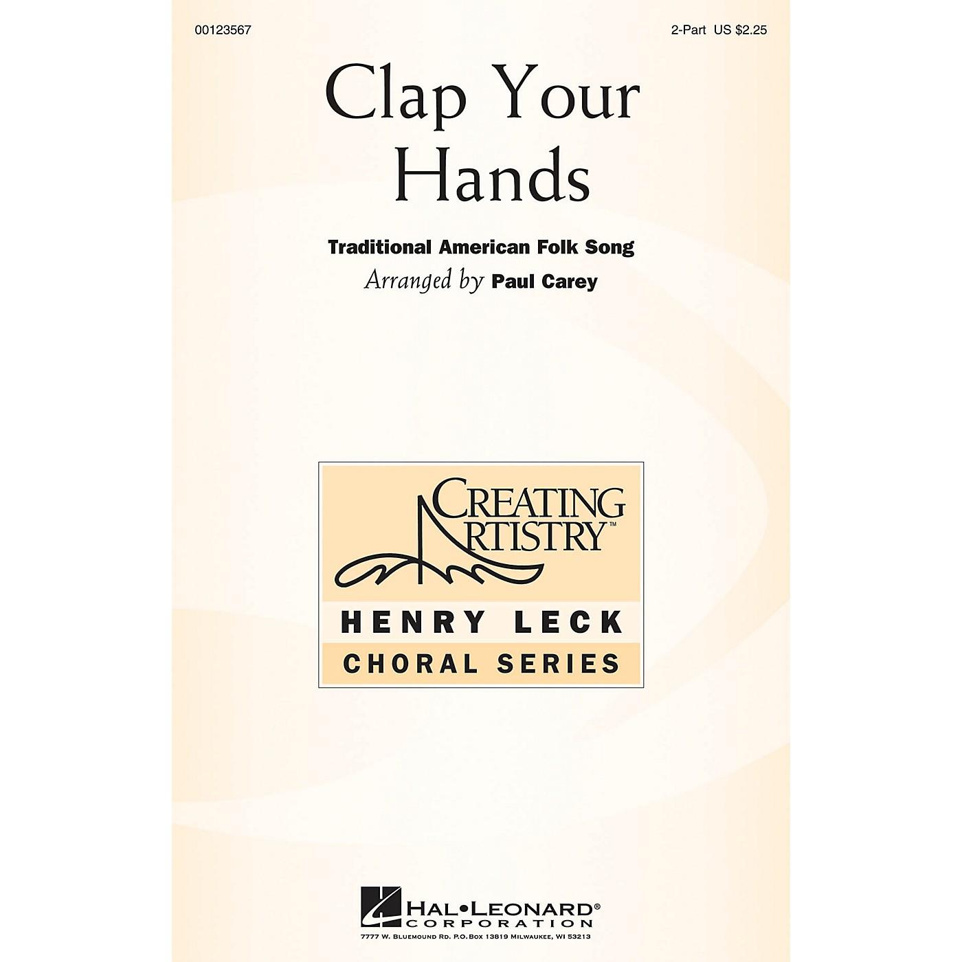 Hal Leonard Clap Your Hands 2-Part arranged by Paul Carey thumbnail