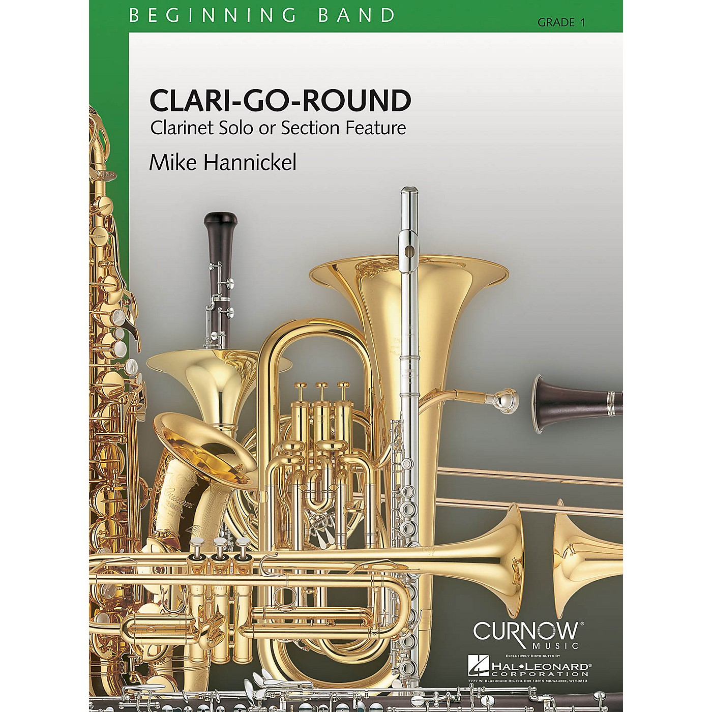 Curnow Music Clari-Go-Round (Grade 1 - Score and Parts) Concert Band Level 1 Composed by Mike Hannickel thumbnail